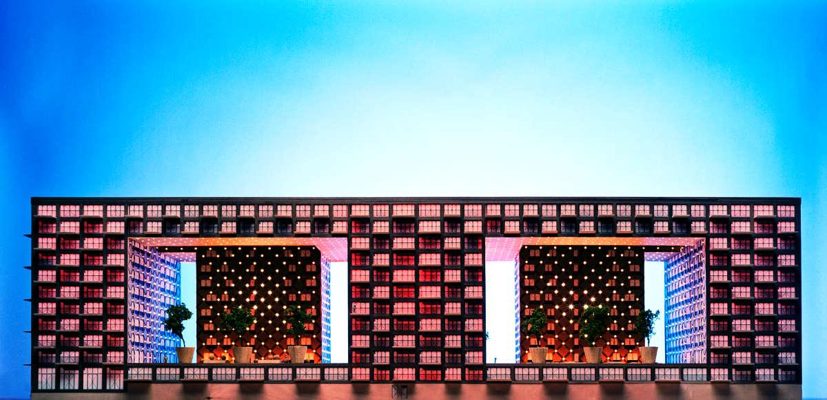 Idee verlichting wooncomplex Amsterdam 2008