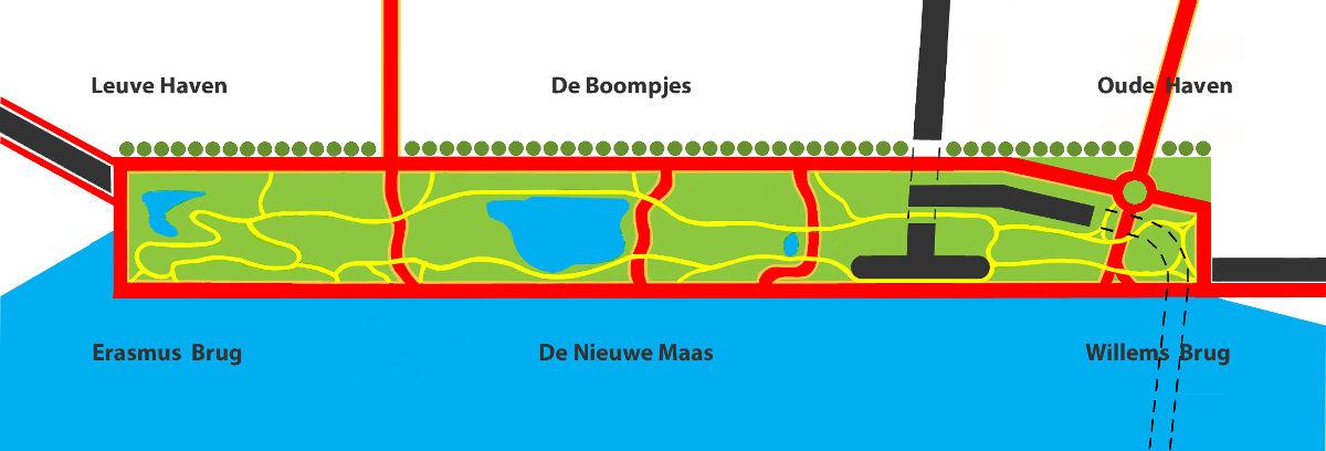 tekening Centraal Park Rotterdam 2004-2015