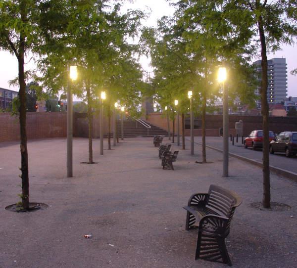 Verlichting inrichting Vaillantplein DenHaag 2006