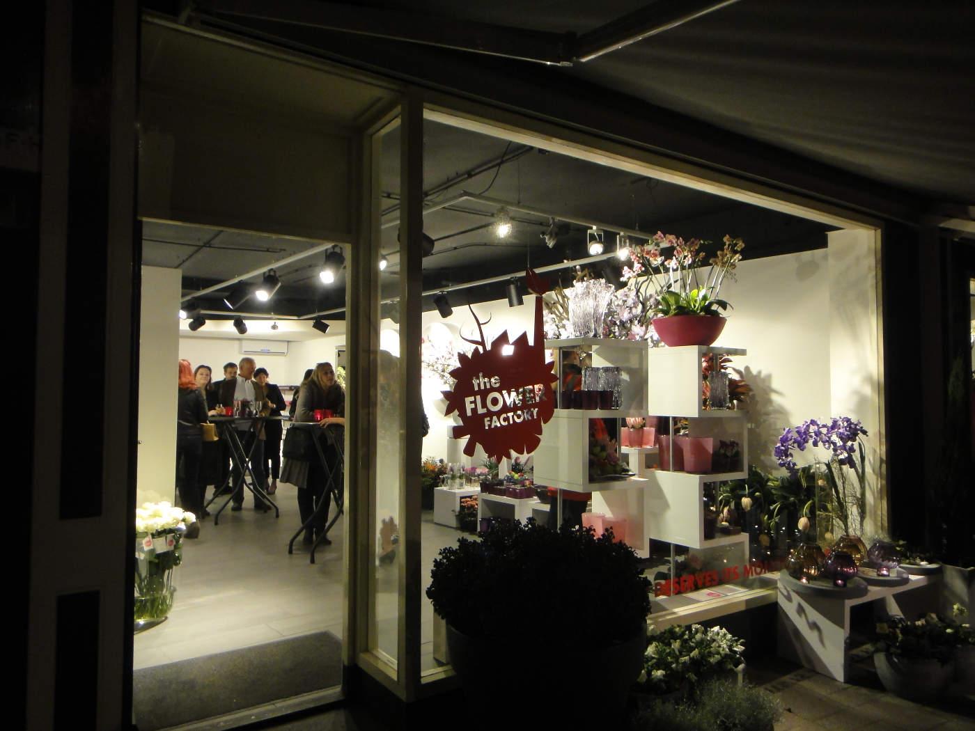 Verlichting Bloemenwinkel Flower Factory Rotterdam 2010