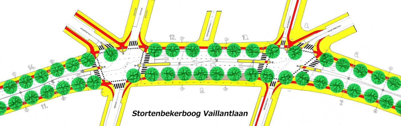 herinrichting tekening deel Vaillantlaan Den_Haag 2002