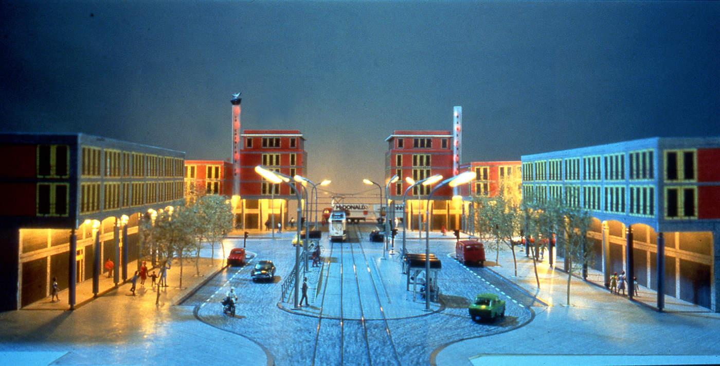 idee herinrichting Paletplein Den-Haag 1994