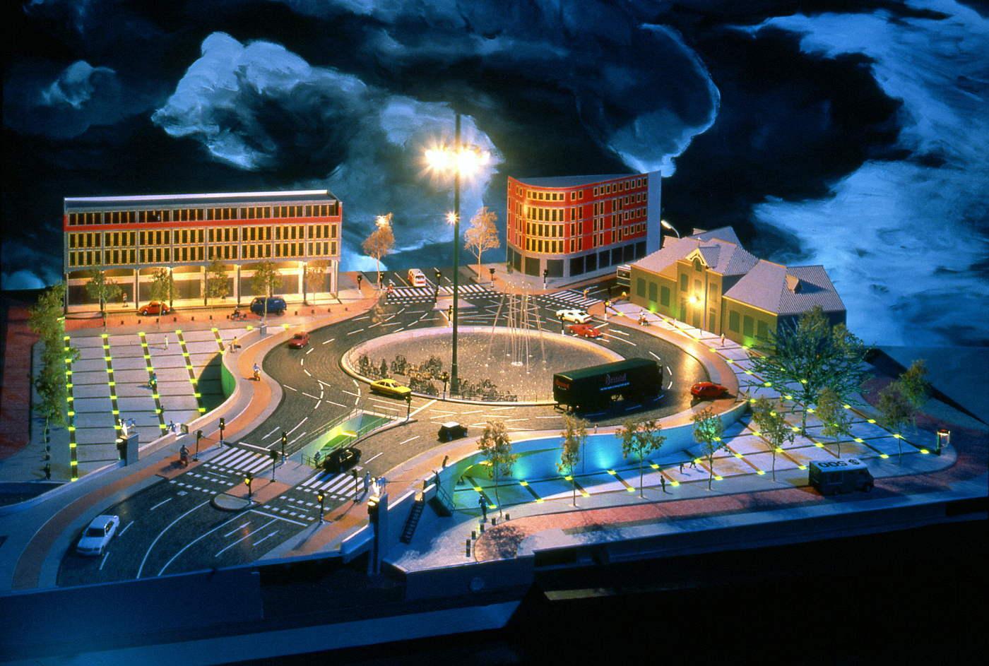 idee herinrichting Vaillantplein Den_Haag 1995