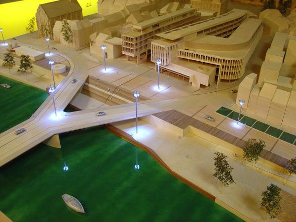 Idee verlichting Maasboulevard Maastricht 2004